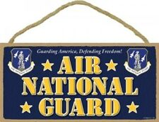 Novelty-Fun Wood Sign-Plaque--MILITARY Design--AIR NATIONAL GUARD