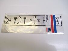 FORD NEW HOLLAND JOYSTICK DECAL E8NNA580BB OEM NEW BACKHOE TRACTOR