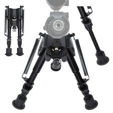 "Adjustable 6"" to 9"" Legs Sniper Hunting Rifle Bipod Sling Swivel Holder Mount~"