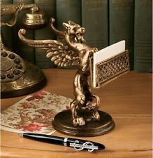 UNIQUE DETAILED GRYPHON BUSINESS CARD HOLDER DESK ACCESSORY NEW