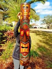 "NEW 40"" CUSTOM DESIGN ""SKULL & CROSSBONES"" CARVED TIKI HOME DECOR MASK!!!"