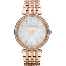 NEW MICHAEL KORS LADIES DARCI GLITZ ROSE GOLD WATCH - MK3220 - RRP £259