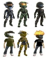 HALO McFarlane Xbox 360 AVATAR mini figures SET of 6 in 1 LOT.  Series 1 ONE!