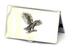 Eagle Landing Credit Card Tin Holder Falconary Gift