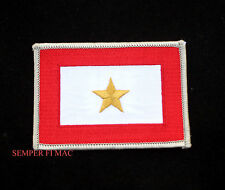 GOLD STAR HAT PATCH US ARMY MARINES NAVY AIR FORCE ONE STAR PIN UP MOM DAD GIFT