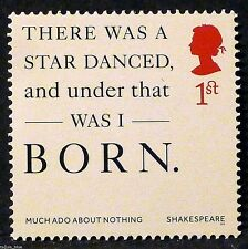 "Shakespeare ""Much Ado About Nothing"" quote illustrated on 2016 stamp - U/M"