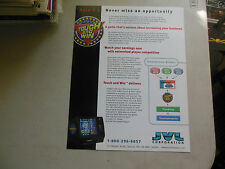 TOUCH AND WIN JVL    ARCADE GAME  FLYER    CE