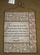 For Those That Wait Upon The Lord ... Tapestry Bannerette Wall Hanging