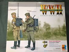 "Dragon 1/6 Scale 12"" WWII German Signals Team Anton and Vaprossov Figures #70327"