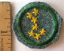 Rare 1947 Girl Scout STAR FINDER BADGE Astronomy Constellation 7-Star WHITE