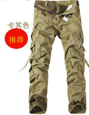 Fashion Casual Mens Military Army Cargo Camo Combat Work Long Trousers Pants HOT