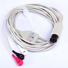 6 Pin One-Piece ECG Cable, Snap, 3 leads, AHA For Datascope,FOR PATIENT MONITOR