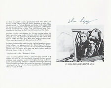 WWII ACE Lt. Col. Donald Lopez, Silver Star, 5 Victories SIGNED ACE BIO SHEET