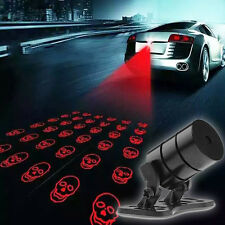 Car Skull Pattern Anti-Collision End Rear Tail Fog Driving Laser Caution Light
