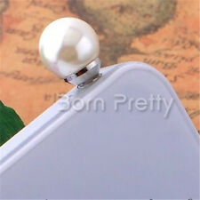 3.5mm Pearl Earphone Anti Dust Ear Cap Plug Stopper for Mobile Phone Fashion