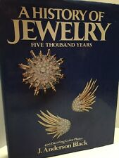1974 A History of Jewelry: Five Thousand Years, Anderson Black Hardcover