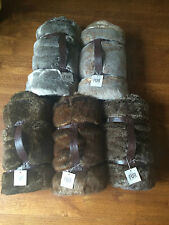 "NEW Restoration Hardware LUXE FAUX FUR Throw ~MINK~ 50 x 60"" Nice and Soft!"