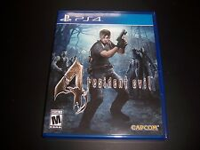 Replacement Case (NO GAME) RESIDENT EVIL 4 FOUR PlayStation 4 PS4 Original Box