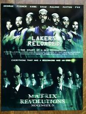 "2003 - LOS ANGELES LAKERS ""LAKERS RELOADED"" MOVIE POSTER - KOBE, SHAQ, FISHER"