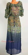 Victoria's Secret Sheer Cover-Up Maxi Dress Paisley Mosaic Garden Ombré Small