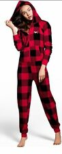 Victoria's Secret Pink Sherpa Long Jane Onesie Pajamas Brand New Size M