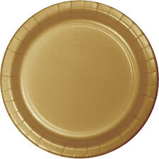 "24 Glittering Gold Wedding Birthday Party Tableware 9"" Paper Lunch Plates"