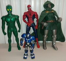 "Marvel Toy LOT OF 4 Legends 12"" DR. DOOM Igor Iron Man, Green Goblin Spider-Man"