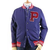 Polo Ralph Lauren Men's Polo Varsity Fleece Baseball Jacket in Size XXL in Navy