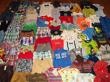 Huge 100pc Baby Boy's Clothing Lot sz 0-6-12 month newborn Gap Gymboree Carter's