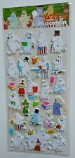 Moomin and friends Books Top Hats Kawaii Puffy Stickers Sticker Sheet Stationery