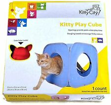 SportPet Kitty City Pop Open Play Cube Sport Pet Pop Out Cat Hide Toy Expandable