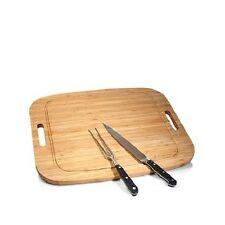 Wolfgang Puck Carving Set with Bamboo Carving Board 16in x 20in