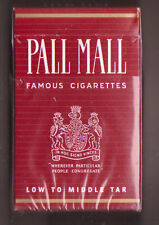 EMPTY PACKET 20 Pall Mall   Low to Middle Tar   Made in West Germany