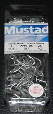 25 Pack Mustad 7794-DS Size 4 Durasteel Saltwater 3X Treble Hooks 7794DS-04