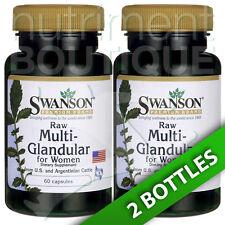 Raw Multi-Glandular For Women 2X60 Caps by Swanson Ovarian/Uterus/Heart/Kidney