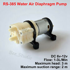 Model R385 12V 3M DC Water Air Diaphragm Pump Micro Small Tank Aquarium Fish