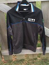 Fila Sport Italia Black/Blue Soccer Full Zip Jacket Small Italy World Cup