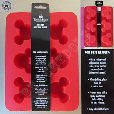 New Authentic Disney Parks Mickey Mouse Muffin Mold Flexible Red Silicone Pan