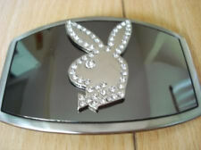 New Playboy Bunny Belt Buckle Silver Color  Silver Logo