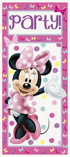 MINNIE MOUSE Bow-Toons PLASTIC DOOR POSTER ~ Birthday Party Supplies Decoration