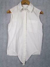 BALENCIAGA SIZE 38 OR UK 10 SLEEVELESS BLOUSE SHIRT AUTHENTIC