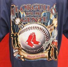 """LEE Boston Red Sox Spanish Pride El Orgullo de Mi Gente XL Tshirt 25.5"""" Pit2Pit"""