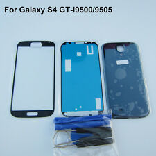 Front glass screen replacement blue back cover for samsung galaxy s4 i9500 i9505