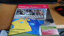 Prince's trust challenge trophy football match programme + Ticket 2007 nufc