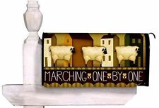 Marching One By One Primitive Magnetic Mailbox Cover