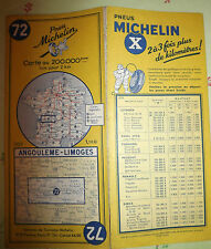 carte michelin  72  angouleme limoges 1959 2