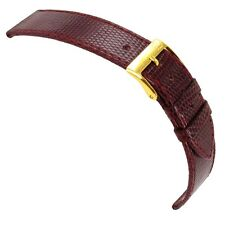 20mm Morellato Genuine Lizard Bordeaux Flat Stitched Watch Band Regular