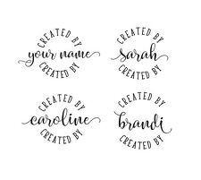 Personalized Custom Made Handle Mounted Rubber Stamp c130