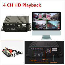 12V 4CH PAL/NTSC Auto Truck Mobile HD DVR Realtime Video/Audio Recorder SW-0001A