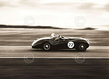 Roadster by Vintage Photography Car Black and White Racing Print Poster 8x10